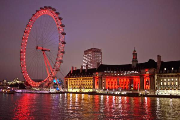 Colorful London Eye