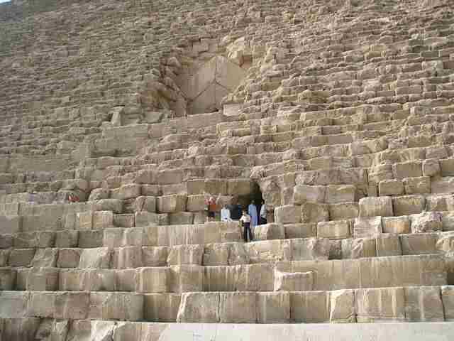 Great-Pyramid-of-Giza-Entrance
