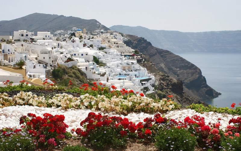 A Garden in Santorini