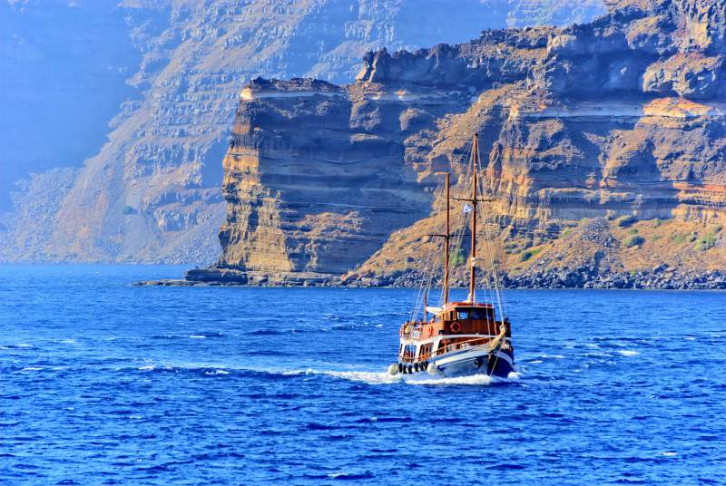 Nearby Hills of Santorini