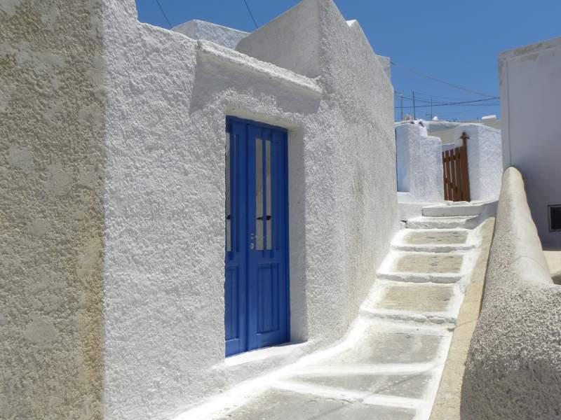 Walkway of a Santorini House